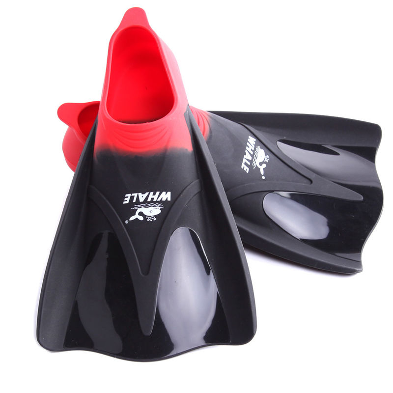 Adult Red Travel Swim Fins , Men'S Diving Fins With Super Soft Silicone Material