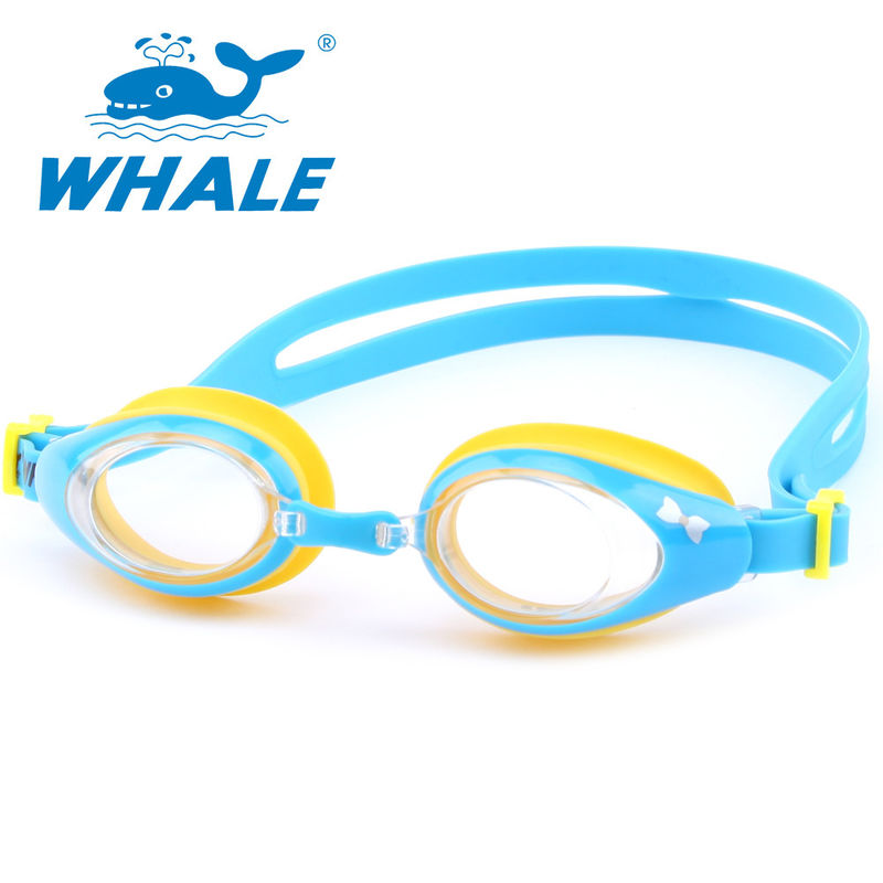 Customized Silicone Swimming Goggles Sturdy One - Piece Structure For Children